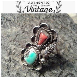🆕Item🔥925 Sterling Silver Gen- Turquoise/Coral